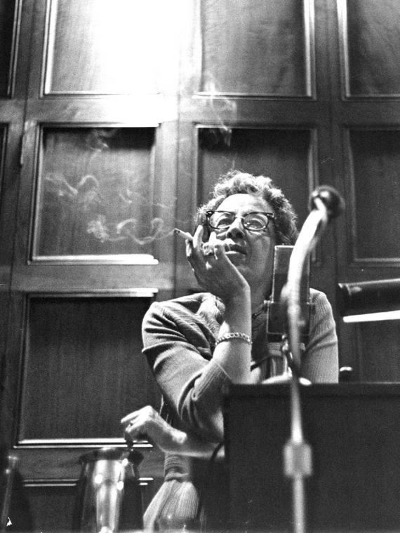Hannah Arendt an der University of Chicago, 1966.